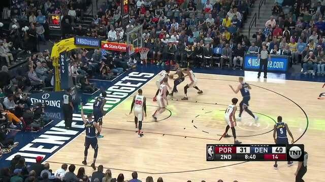 Melhores momentos de Portland Trail Blazers 99 x 114 Denver Nuggets pela NBA