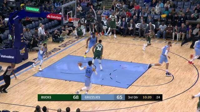Melhores momentos de Milwaukee Bucks 127 x 114 Memphis Grizzlies pela NBA