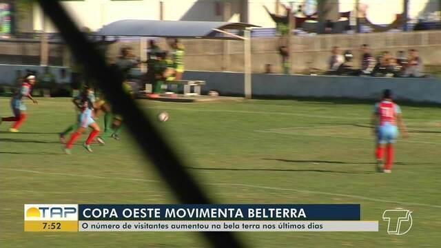 Número de visitantes aumenta em Belterra por causa da Copa Oeste de Futebol Feminino