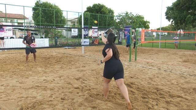 Beach tennis faz sucesso nas praças de Boa Vista, RR