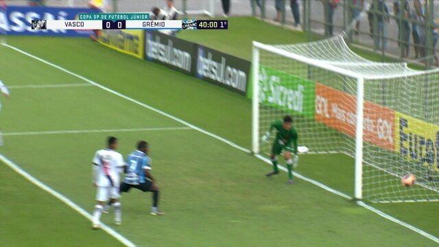 Melhores momentos: Vasco 1 x 1 Grêmio pelas quartas de final da Copa SP de Futebol Júnior