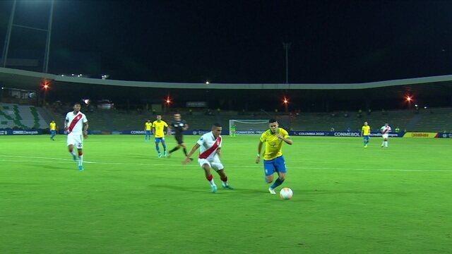 Melhores momentos: Brasil 1 x 0 Peru pelo Pré-Olímpico de Futebol Sub-23