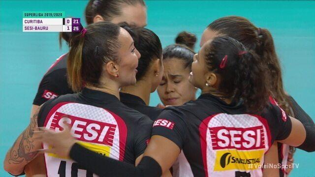 Pontos finais de Curitiba 0 x 3 Sesi pela Superliga de vôlei feminino