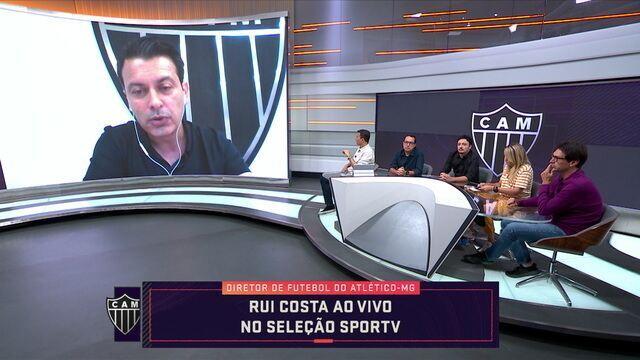 Diretor de futebol do Atlético-MG, Rui Costa, fala sobre as primeiras impressões do Dudamel