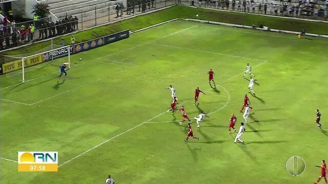 Os gols de ABC 2 x 2 America-RN, pela final do primeiro turno do Campeonato Potiguar