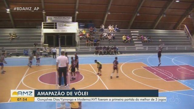 Amapazão de vôlei tem a primeira partida do melhor de três jogos no campeonato