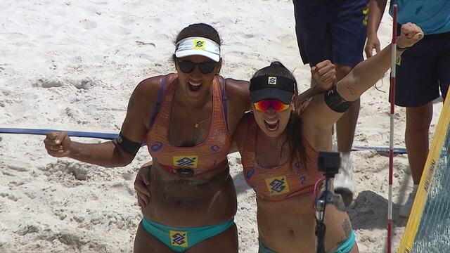 Pontos finais de Ana Patricia/Rebecca 2 x 0 Carol/Talita na decisão do Circuito Brasileiro de Vôlei de Praia