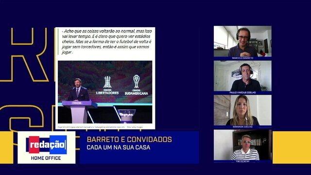 Redação Home Office debate impactos do coronavírus no calendário do futebol brasileiro