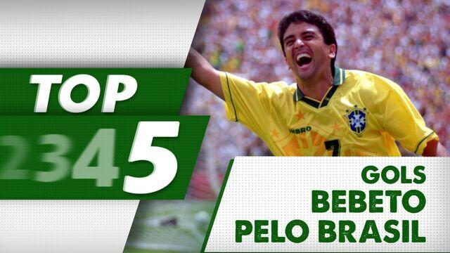 Faz, Bebeto! Confira o top 5 de golaços do craque Bebeto com a camisa do Brasil