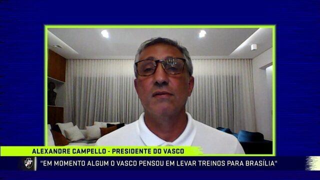 Presidente do Vasco, Campello fala sobre possível volta dos treinos