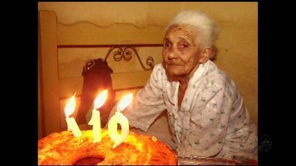 Maria da Conceicao Erundina celebrated her 110th birthday on Friday, in Brejo Santo, in southern Ceara.