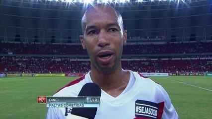 O Vitória foi ao Rio Grande do Sul e perdeu por 1 a 0 para o Internacional.  O resultado deixou os jogadores rubro-negros chateados 29006e2d38714