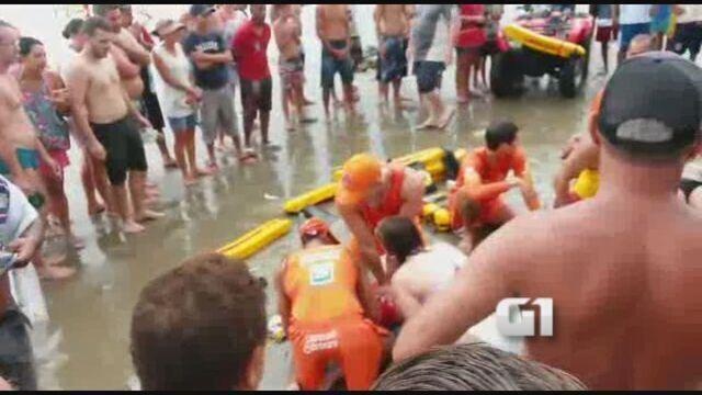 Raio mata quatro pessoas da mesma família em Praia Grande