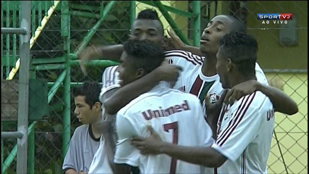Os gols de Goiás 1 x 2 Fluminense pela 3ª rodada do grupo B do Brasileirão Sub-20