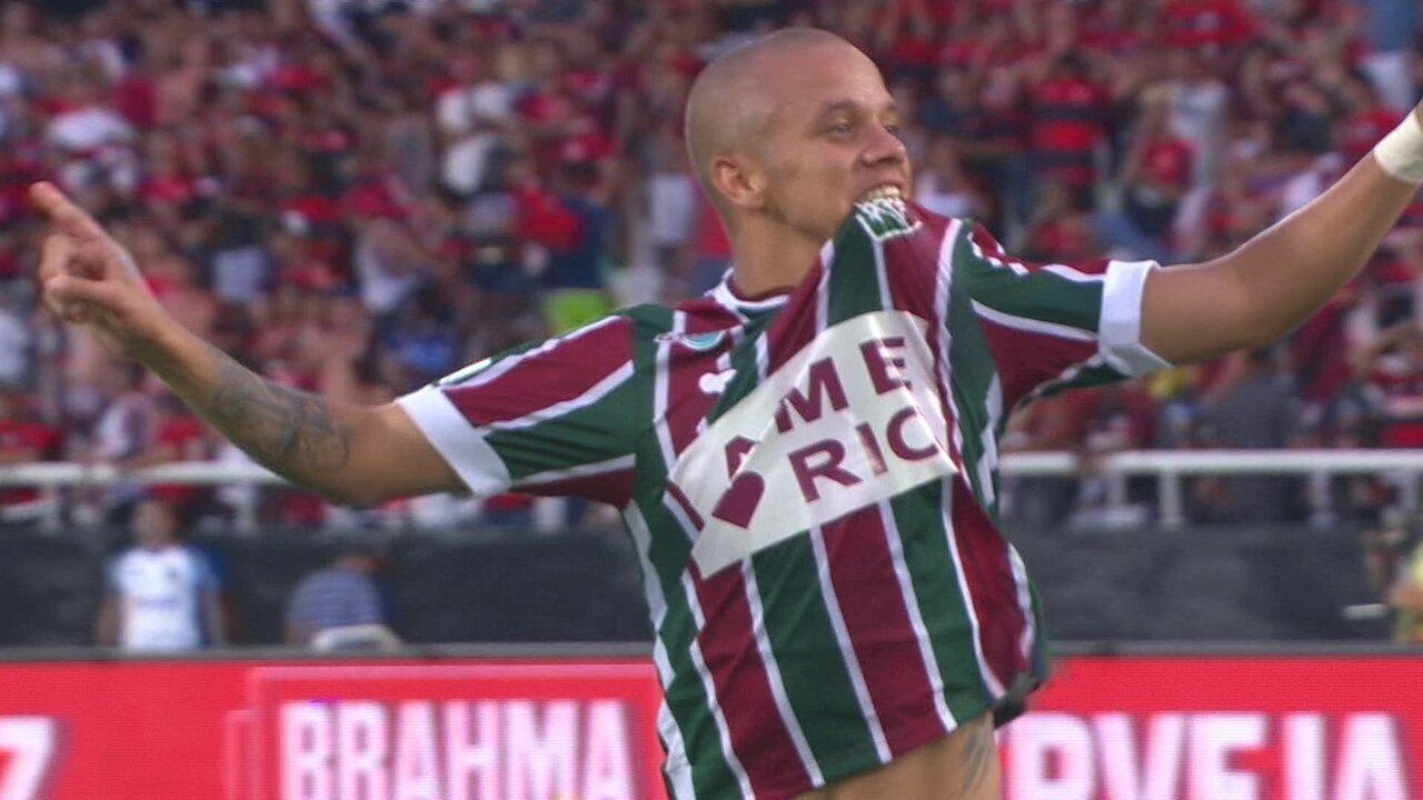 Marcos Junior converte o pênalti que dá o título da Taça Guanabara ao Fluminense