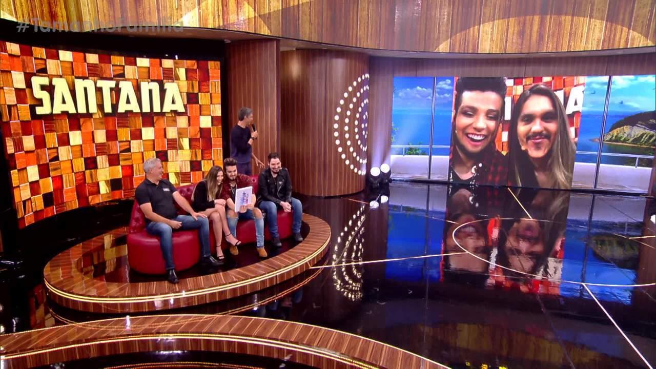 Luan Santana faz um teste para ver o quanto se parece com sua irmã