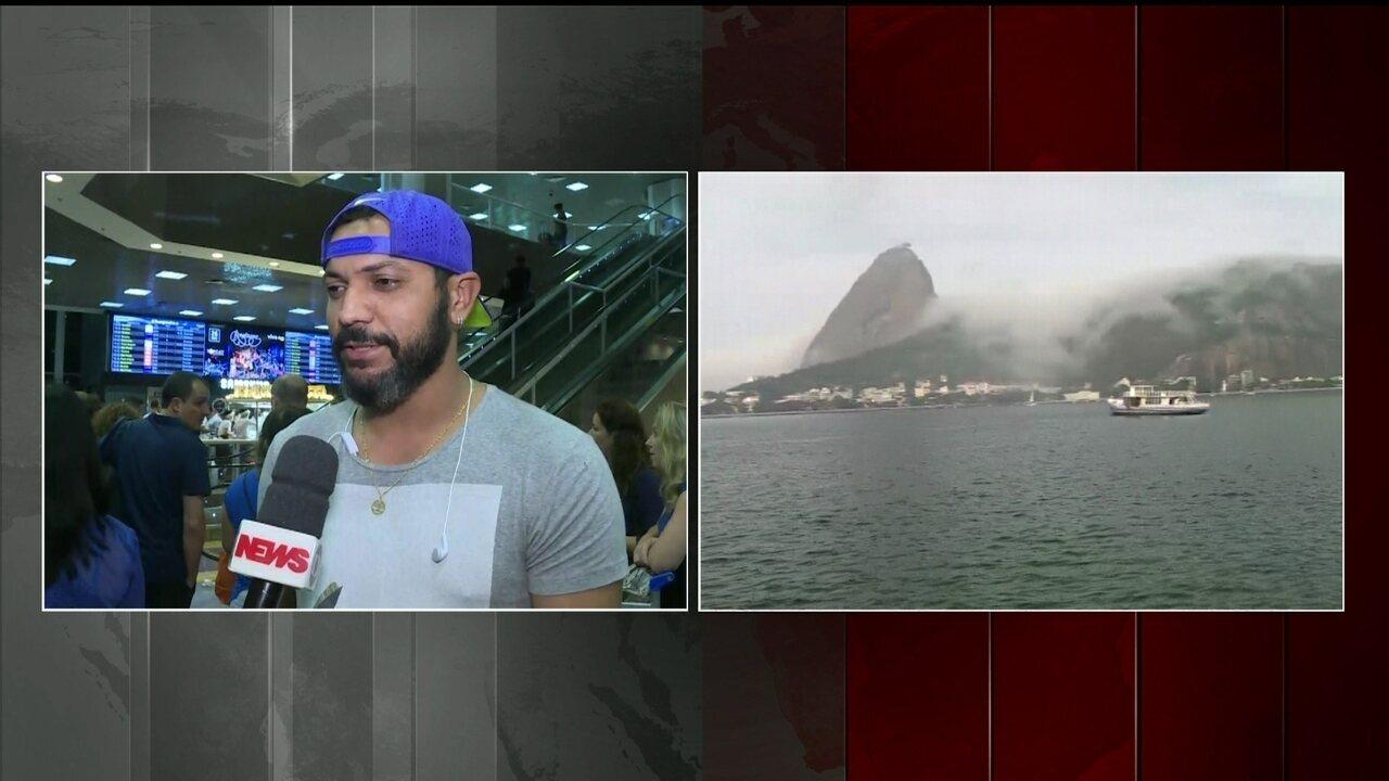 Nevoeiro fecha o Aeroporto Santos Dumont, no Rio, pelo terceiro dia consecutivo