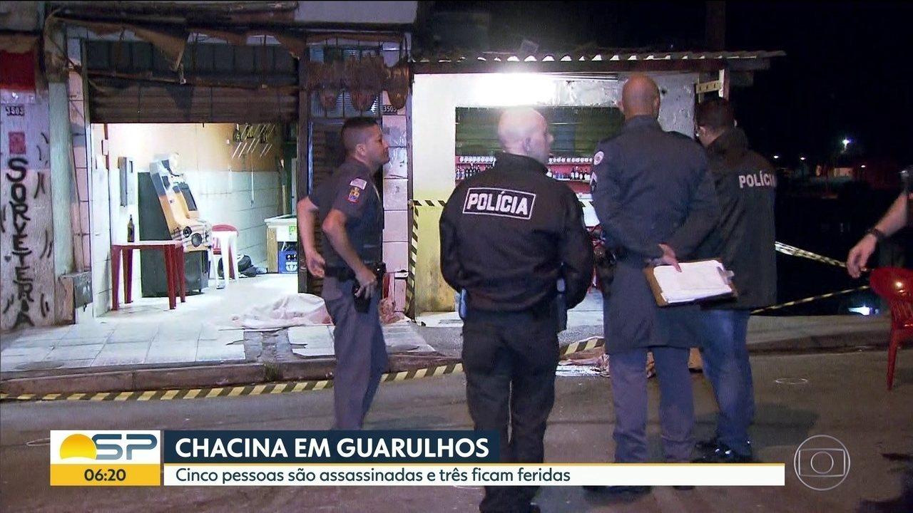 Chacina em Guarulhos deixa cinco mortos e três feridos