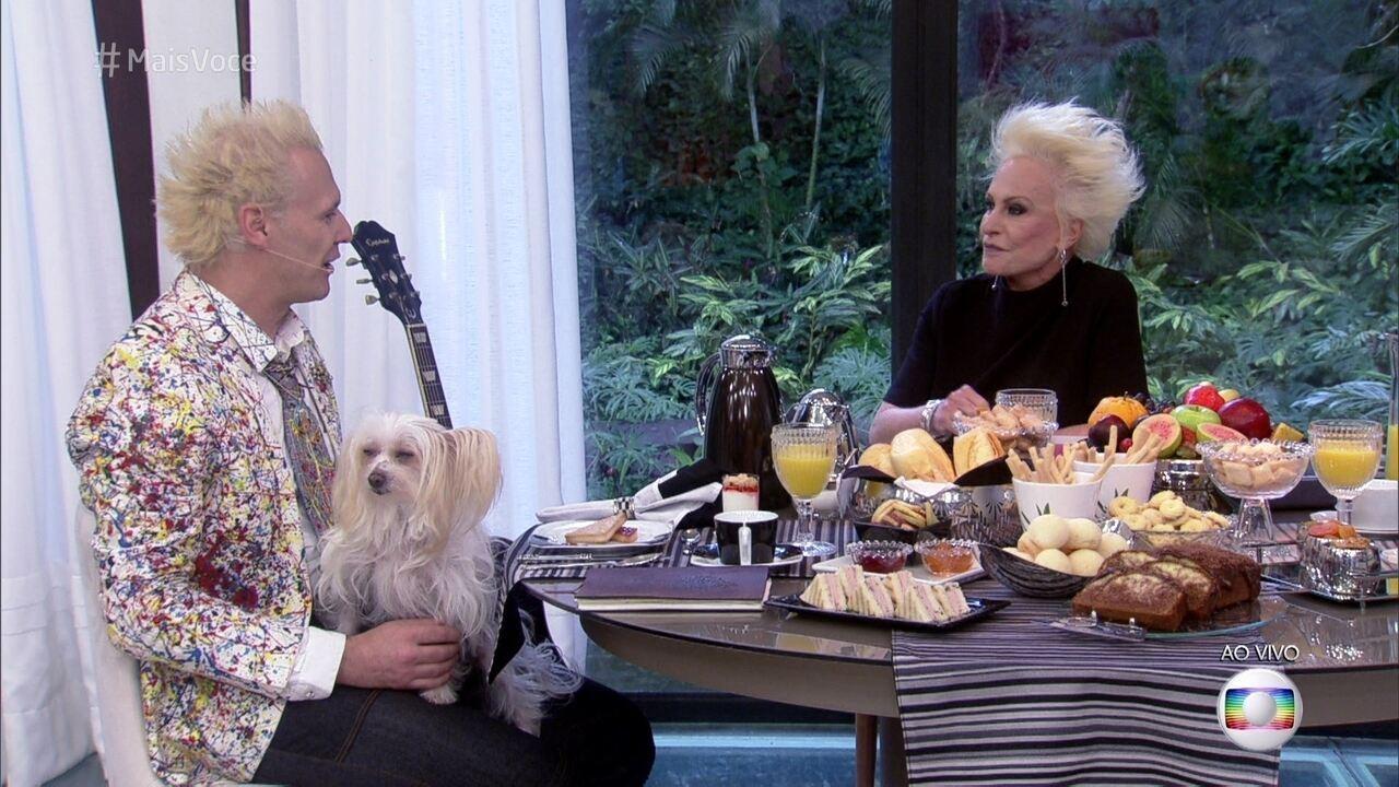 Dois loiros na Casa de Cristal: Ana Maria toma café com Supla