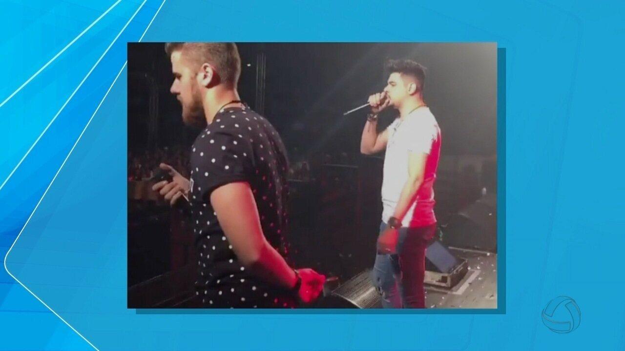 Zé Neto e Cristiano interrompem show após explosão em MS