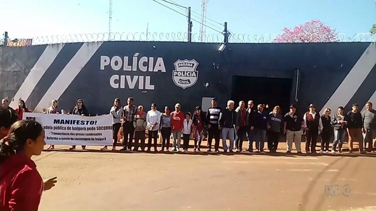 Resultado de imagem para Moradores de Ivaiporã e de cidades vizinhas fazem protesto por reforma de cadeia