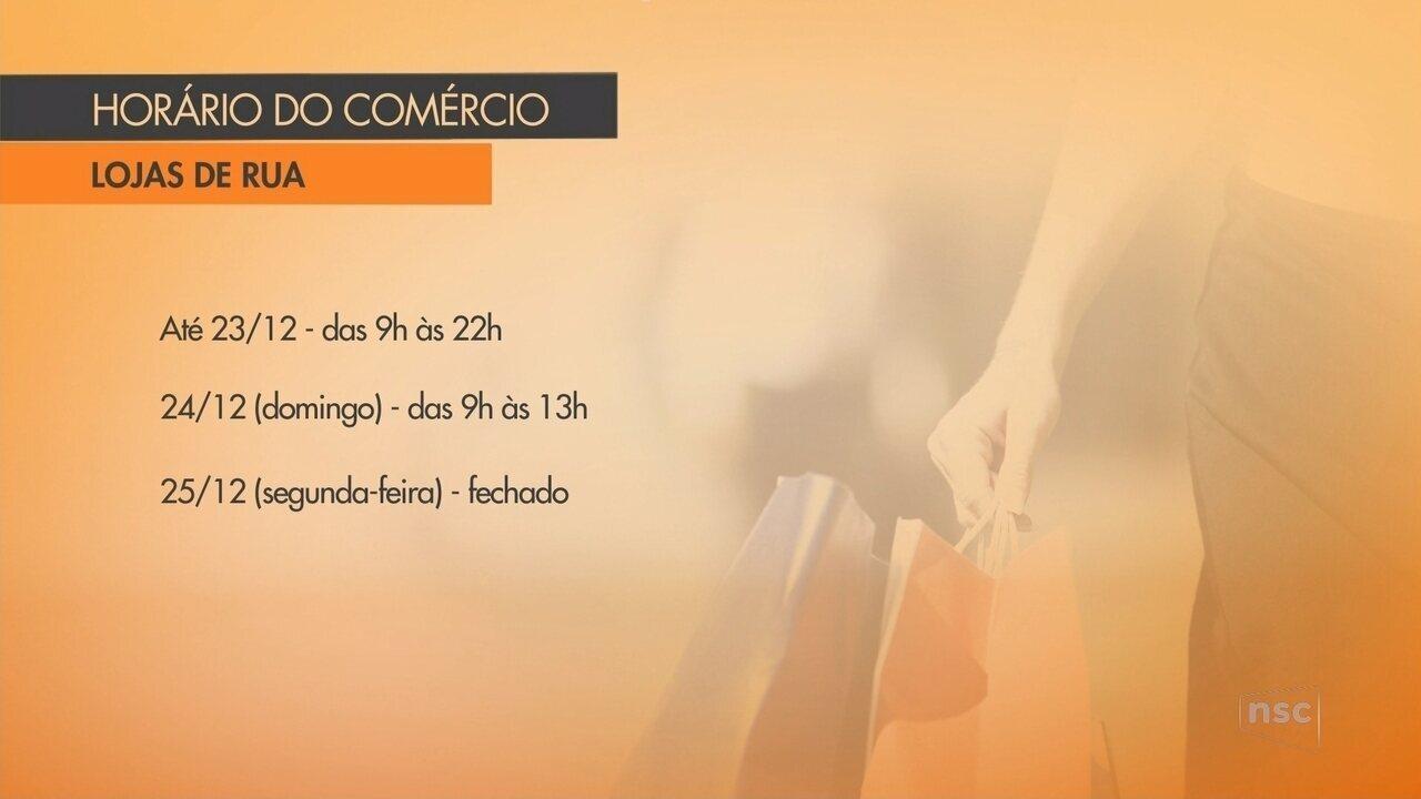 191bdcdde Confira o horário de funcionamento do comércio em Joinville durante o Natal  - G1 Santa Catarina - Jornal do Almoço - Catálogo de Vídeos