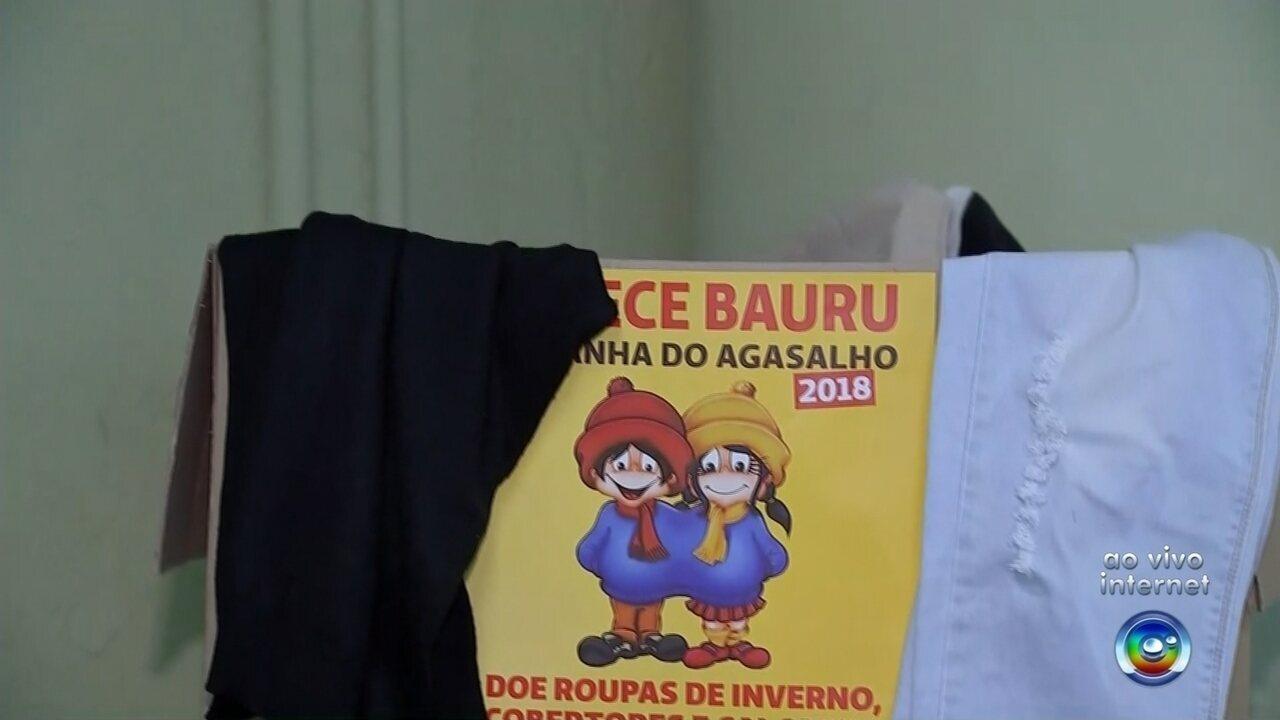 2df7605fbf Equipes visitam bairros para arrecadar doações para Campanha do Agasalho em  Bauru - G1 Bauru  Marília - Bom Dia Cidade - Catálogo de Vídeos