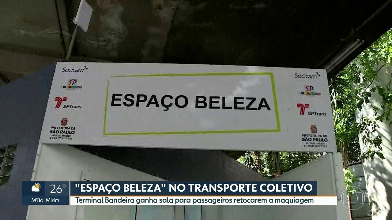 69b63a1ec8009 Terminal Bandeira ganha 'Espaço Beleza' - G1 São Paulo - Vídeos - Catálogo  de Vídeos