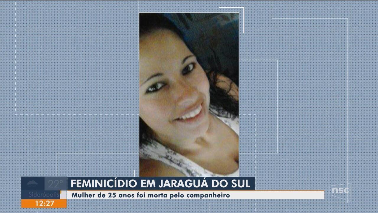 Homem é suspeito de matar companheira de 25 anos em Jaraguá do Sul - G1  Santa Catarina - Jornal do Almoço - Catálogo de Vídeos 3e079111128
