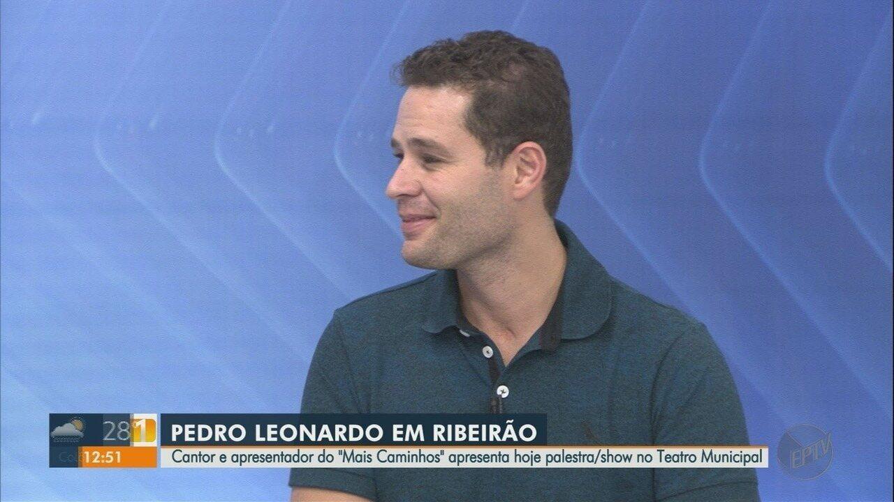 Pedro Leonardo Se Apresenta No Teatro Municipal De Ribeirão Preto Sp