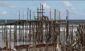 Avanço do mar no Pará muda paisagem e preocupa moradores