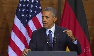 Obama e líderes da União Europeia se reúnem na Alemanha