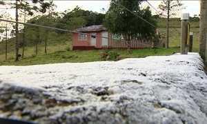 Frio muda a paisagem na Serra Catarinense