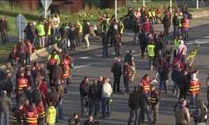Protestos contra a reforma trabalhista ganham força na França