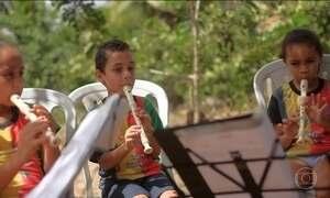 Música melhora a vida de crianças e adolescentes no interior de Sergipe