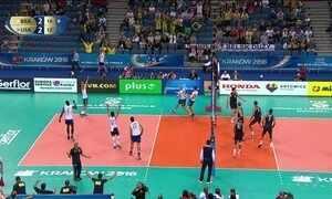 Brasil vence os Estados Unidos e está nas semifinais da Liga Mundial de Vôlei