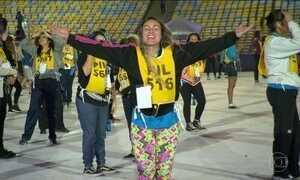 Maracanã tem ensaio para a abertura da Olimpíada