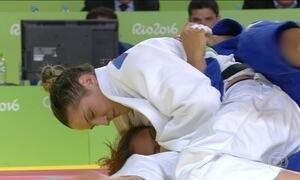 Mayra Aguiar vence duas lutas e chega a semi-final do judô