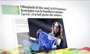 Esgrimista italiana dedica medalha para as vítimas do terrorismo no mundo