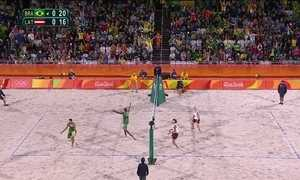 Shelda comenta os destaques do vôlei de praia na Olimpíada do Rio