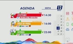 Veja as atrações desta sexta-feira (12) na Olimpíada