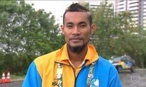 Tuvalu tem apenas um representante nessa Olimpíada