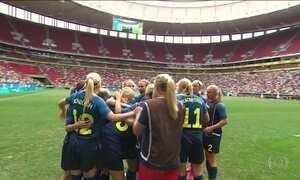 Zebra no futebol feminino: suecas eliminam americanas