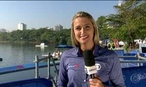 Canoagem é atração na Lagoa Rodrigo de Freitas