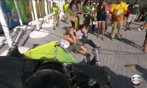 Câmera aérea cai de cabo e deixa feridos no Parque Olímpico