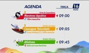 Veja os destaques da Olimpíada desta terça-feira (16)