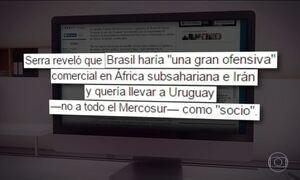 Chanceler uruguaio acusa Serra de tentar comprar voto para definir presidência do Mercosul