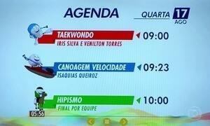 Confira a programação do Brasil nos Jogos Olímpicos nesta quarta (17)