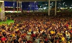Parque Olímpico parou para assistir decisão do futebol