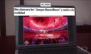 Imprensa internacional elogia festa de encerramento da Olimpíada